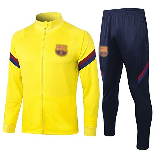 L-YIN Transpirable de manga larga amarilla de deporte de fútbol de entrenamiento de los hombres uniforme de traje -A1027 Chándales (Color : Yellow, Size : M)