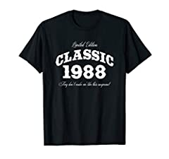 Limited Edition. Classic 1988. They don't make em' like this any more! This auto and birthday themed graphic makes a nice gift for a car girl or guy! Great gift idea for any man or woman turning 32 years old who loves cars and has the birth year of 1...