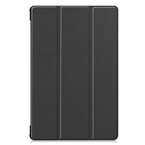 Trifold bracket flat cover, suitable for Samsung Tab S6 Lite P610/P615 flip cover sleep-black