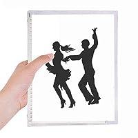 ダンサーのデュエットダンスパフォーマンスアート 硬質プラスチックルーズリーフノートノート