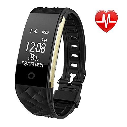 GESIMEI Inteligente Pulsera Aptitud Rastreador Impermeable Actividad Podómetro Pulsera Corazón Tarifa Dormir Monitor Bluetooth 4.0 Reloj Banda para Androide IOS Teléfonos