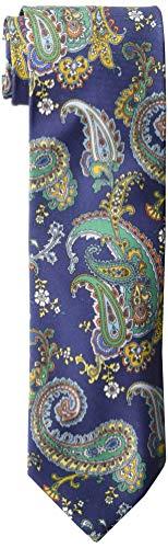 Eton Herren Krawatte, Paisleymuster, Einheitsgröße, Blau