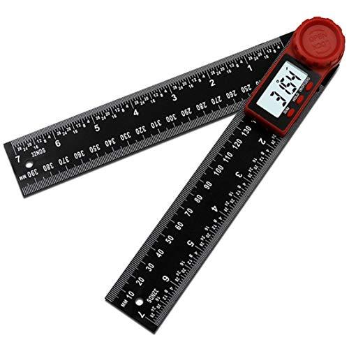 zhouweiwei 200MM / 300MM Medidor de ángulo electrónico Digital Regla de ángulo Herramienta de medición de Nivel Transportador Inclinómetro Goniómetro