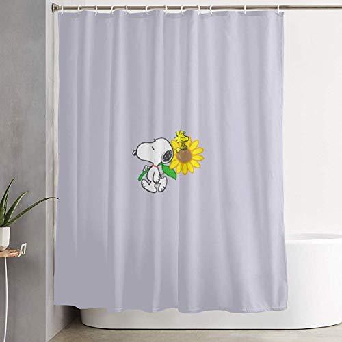 NHUXAYH Duschvorhang Sunflower Snoopy Kunstdruck, Polyestergewebe Badezimmer Dekorationen Sammlung mit Haken 60X72 Zoll