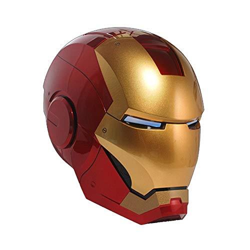 MODRYER Avengers Iron Man Helmet 1/1 Live-action Mask Helmet Voice Control Bluetooth Headset USB Charging Movie Fans Cosplay Prop for Carnival Halloween,mk7
