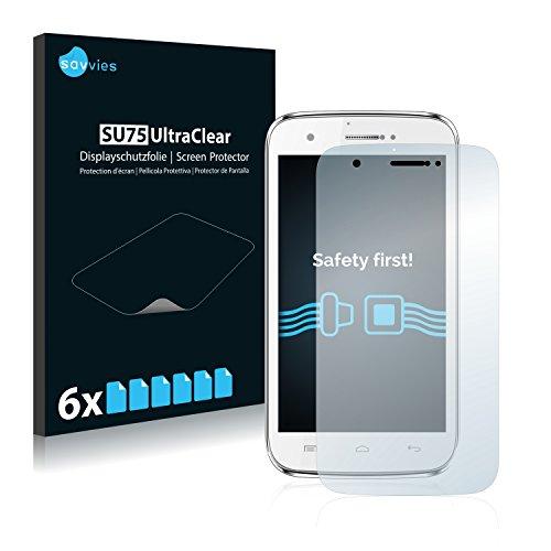 Savvies 6X Schutzfolie kompatibel mit Mobistel Cynus F5 Displayschutz-Folie Ultra-transparent