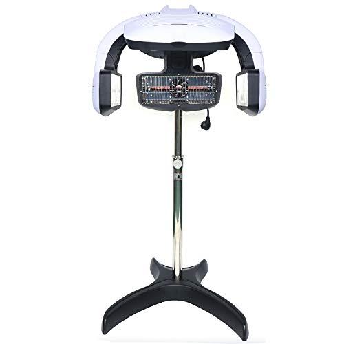 Secador de pelo de 800 W, con función de temperatura y tiempo de trabajo, adecuado para salón de peluquería con soporte y trípode, color blanco