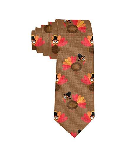 Jesse Tobias Corbata Regalo de vacaciones Hombres Moda Clásico Lindo Acción de gracias Pavo Corbatas Formal Casual Boda Fiesta Traje de negocios Corbata
