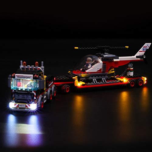 Kit di Illuminazione A LED per Lego City Trasportatore Carichi Pesanti, Compatibile con Il Modello Lego 60183 Mattoncini da Costruzioni - Non Incluso nel Modello