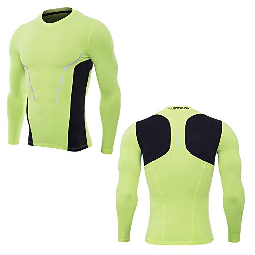 Vêtements de Fitness à Manches Longues pour Hommes, T-Shirt à séchage Rapide Pro Yoga Running Sportswear Yoga Running Sports-G-M