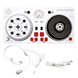 Anladia DJ Party Mixer Turntable Creative Toy for Kids, Children DJ Set, Microphone, Earphone, Sound Effects, LED Disco Ball, Light Show for Birthday Children's Day