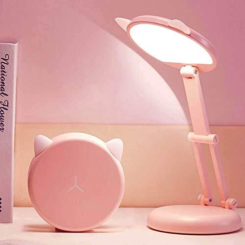 VABOO Lámpara Escritorio LED, Lámpara de Mesa USB Recargable, Regulable 3 modos Luz Lectura Plegable Luz Flexo Escritorio,...