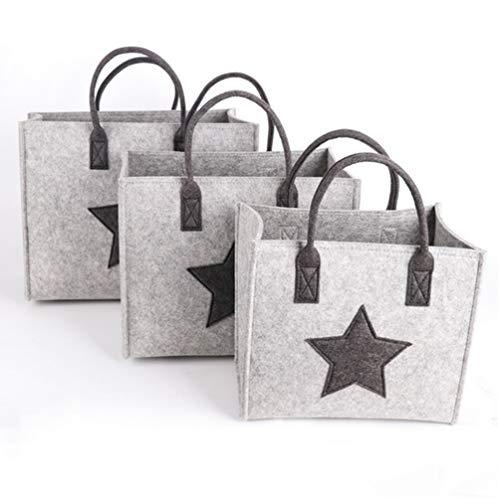 Sac à provisions en tissu, sac à main, panier à provisions, sac de rangement, sac à bois de chauffage, sac à provisions pliant pour l épicerie, lavable, gris clair, grand