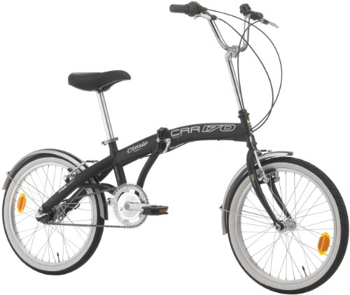 CINZIA Klapprad Car-Bike 3-Gang Shimano Nexus, schwarz, Rahmenhöhe: 29 cm, Reifengröße: 20 Zoll (51 cm), 871849