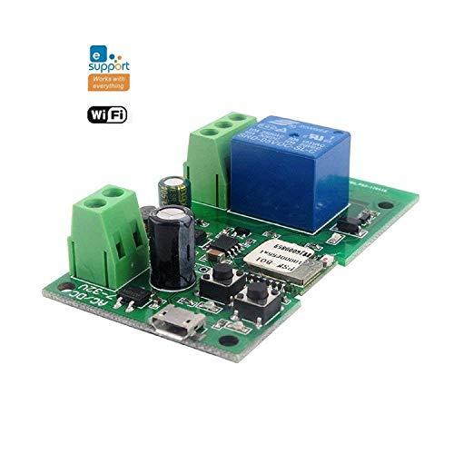 MHCOZY Relè WiFi Ewelink, Modulo temporizzatore autobloccante/temporaneo, camino porta garage Alexa Voice Control (1CH 5-32V)