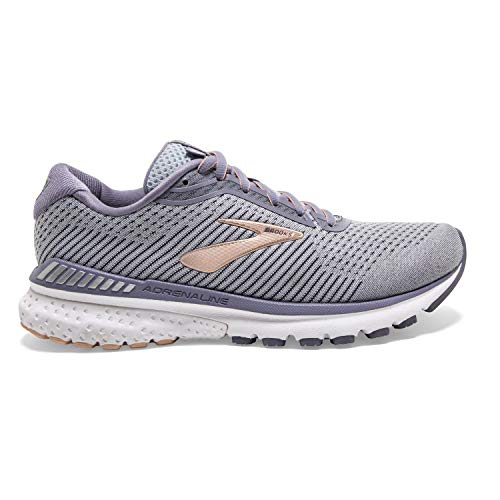 Brooks Adrenaline GTS 20 Grey/Pale Peach/White 9 B (M)