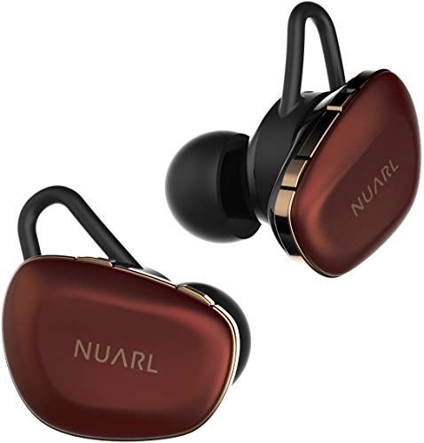 NUARL N6 Pro TWS True Wireless Stereo Earphones Earbuds Bluetooth5 11hr Playback aptX with HDSS IPX4 N6PRO-RC(RED Copper)