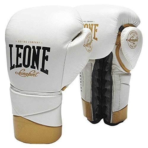LEONE 1947 Authentic - Guantes de Boxeo Unisex para Adultos, Color Blanco, 14 oz