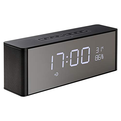 Bluetooth luidspreker ontvanger draagbare draadloze luidspreker voor telefoon computer ondersteuning Tf Fm klok Verenigde Staten zwart caixa de som