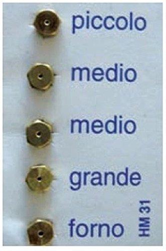 Düsen Schritt 6MB Injektoren Kit A GAS Gasflasche GPL Gasherde Herdarten