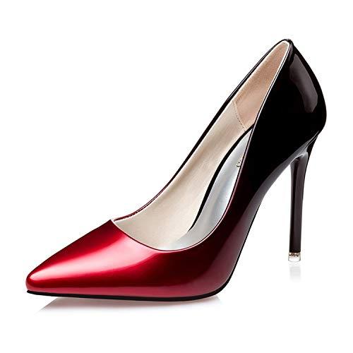 LMZX - Tobillera para mujer, talón alto con plataforma oculta Peep Toe - Zapatos de tacón con agujas para fiesta de boda, damas de 4.3 pulgadas