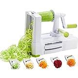 Best Spiral Slicers - YorkHoMo Spiralizer Vegetable,Vegetable cutter with 5 Blades Handheld Review