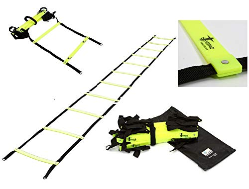 Cintz 30 Ft Green Speed Agility Ladder Soccer Training Workout Heavy Duty Fixed Rungs