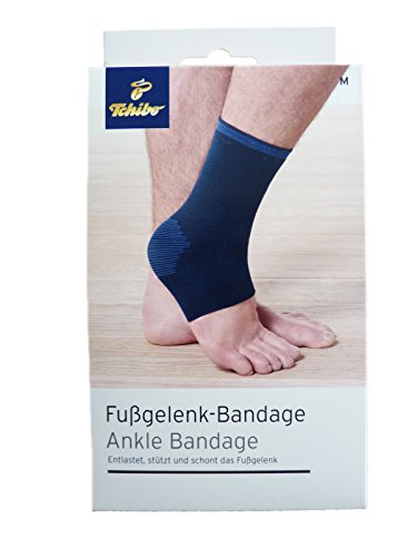 TCM Tchibo Fusgelenk Bandage Fuß Gelenk Bandage Größe M blau
