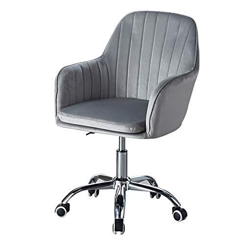 Amrai Bürostuhl Ergonomischer Grey Home Velvet Drehbarer Bürostuhl mit Armlehne Moderner ergonomischer Computertisch-Arbeitsstuhl