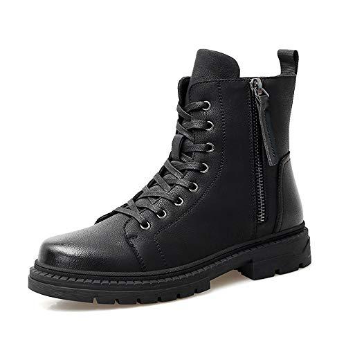 JCCOZ - URG - Botas de invierno para hombre, estilo informal, con cremallera, forro polar interior, altura superior, color negro, talla: 40 EU