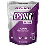 Epsoak Sport Lavender Epsom Salt for Athletes - 5 lbs. Soothing Therapeutic Soak with Lavender Essential Oil