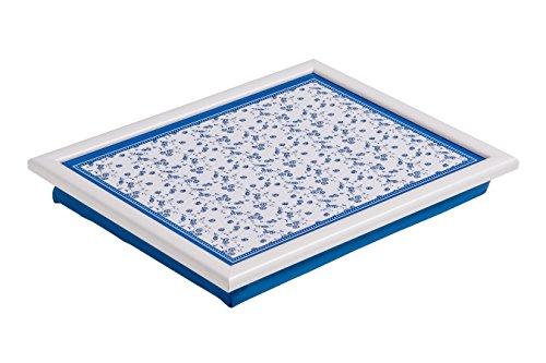 Premier Housewares 1207925 Vassoio con Cuscinetto, Blu/Rosa