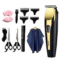 yotijar Mens Cordless USB Eleric Hair Clippers Double Shear Setに適用Barbers Baby