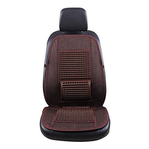 Preisvergleich Produktbild ZFSWMY Auto Innensitzbezug Kissen Sommer Cool Pad Matte Atmungsaktiv Entlasten Müdigkeit für Autozubehör Bürostuhl Polyester 2 Stück (Farbe: Braun)
