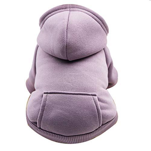 Yowablo Hund Pullover, Hundepullover, Haustier Sweater, Sweatshirt, Hunde Pullover, Kleidung, Hundebekleidung, Hundepullover, Baumwolle Sweatshirt für Welpen große Hunde (XXL,1- Lila)