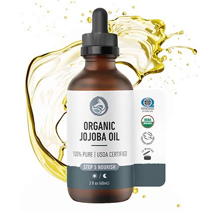 Foxbrim Naturals Organic Jojoba Oil - 100% Pure, Unrefined & cold pressed - perfect for face, hair,...
