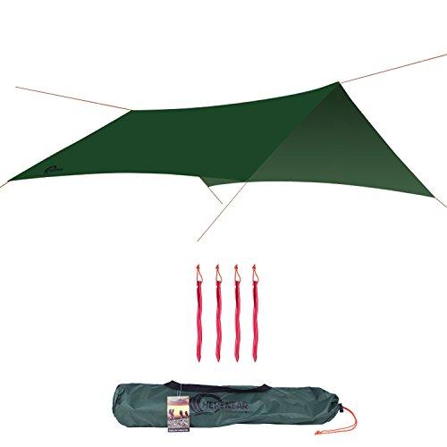 Herenear 3m x 3m Bâche anti-pluie Toile de tente...