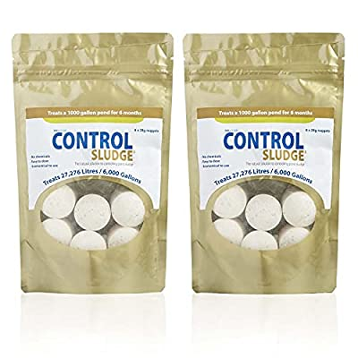 Swell UK Control Pond Sludge Remover and Pond Cleaner | Crystal Clear Water with Natural Ingredients & Safe to Pond Fish and Livestock | Suitable for 12000 Gallons / 54,000 litres - Pack of 2
