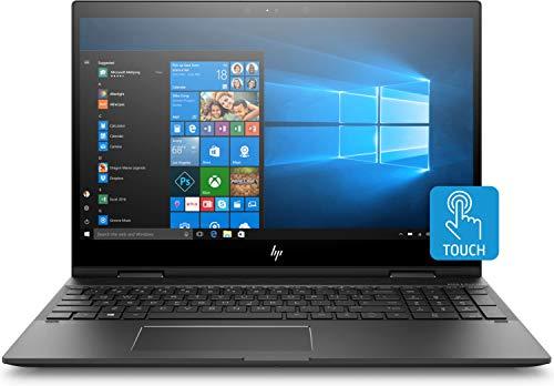 HP ENVY x360 15-cp0001na 15.6 Inch FHD Touch-Screen Convertible Laptop - (AMD Ryzen 7 2700U Quad Core, 8 GB RAM, 256 GB SSD, 1 TB HDD, Windows 10 Home) (Dark Ash Silver)