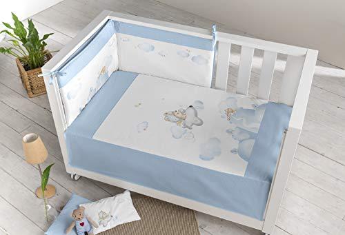 Pielsa Edredón Más Protector Cuna, Bebe, Bebe Cama 122193, Color Azul, Tamaño 120 x 60