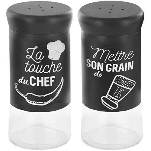 Promobo–Duo Sale e Pepe retrò saliera e poivrière collezione Chef