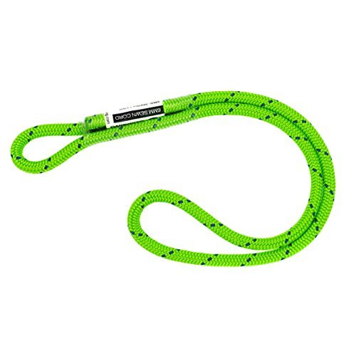 GM CLIMBING 12in 6mm Prusik Loop Pre-Sewn for Climbing Arborist Rescue Mountaineering General Outdoor Use (Green, Single Unit)