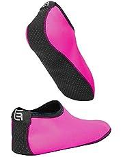 Aquasokken voor vrouwen, meer comfort, beschermen tegen zand, koud/warm water, uv-licht, stenen en kiezels, gemakkelijk te gebruiken schoenen voor zwemmen, strandvolleybal, snorkelen, zeilen, surfen, yoga