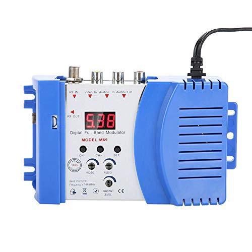 Modulador digital de radiofrecuencia Modulador universal doméstico compacto Modulador digital de radiofrecuencia Convertidor de audio y video Convertidor de señal Convertidor de señal VHF / UHF(EU)