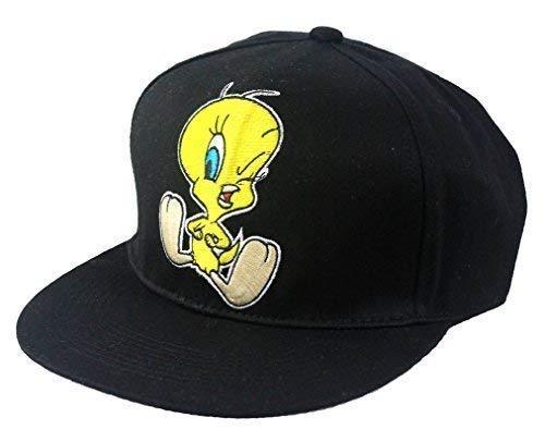 Casquette officielle bouchons Looney Tunes Titi de baseball à visière plate Unisexe chapeaux, hip hop