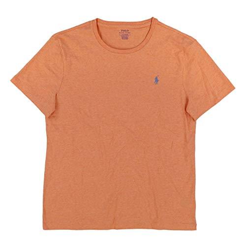 Polo Ralph Lauren Camiseta de cuello redondo para hombre, Naranja JaspeadoOrange Heather), Small