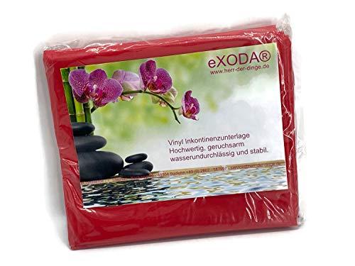 eXODA Inkontinenzlaken Unterlaken Matratzenauflage rot 200x230 cm Inkontinenzauflage Inkontinenz-Bettlaken auch für Kinder