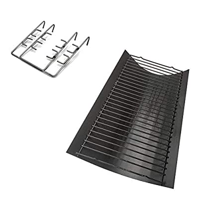 Votenli PZ3508 (1-Pack) Steel Ash Pan with Wire Grate for Chargriller Charcoal Grill 1224, 1324, 2121, 2222, 2727, 2828, 2929, Chargriller 200048,Charbroil 1730205