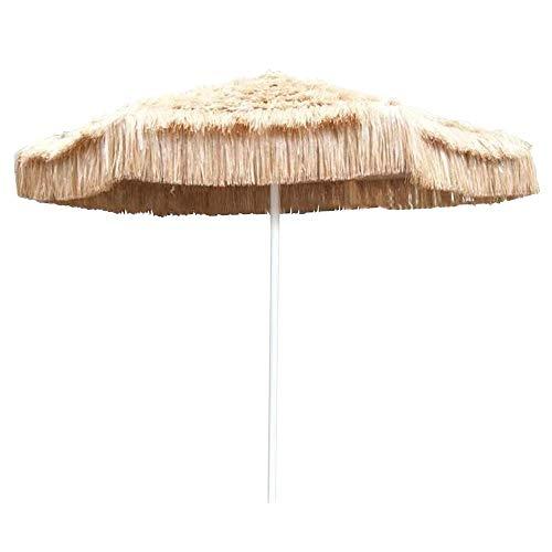 WEWE Ombrellone in Paglia da Spiaggia Grande ombrellone da Esterno Rotondo Anti-ultravioletto ombrellone da Spiaggia Hawaiano ombrelloni in Paglia Imitazione (Colore Naturale) (Senza Staffa)