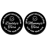 New Parents Gifts for First Time Mommy Daddy New Baby Gifts for Dads Moms to Be Funny Decision Making Coin Double-Sided Pregnancy Gifts Mothers Day Fathers Day Birthday Christmas Present